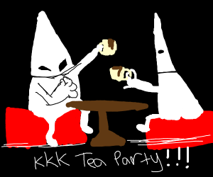 the kkk having a meeting at a diner
