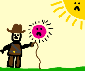 Indiana Jones shows off his pink superball
