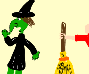 Stealing a Witch's broom