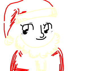 Anime lenny face santa claus