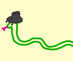 snek with fedora