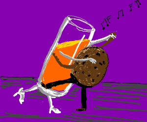 Orange juice and cookie dancing