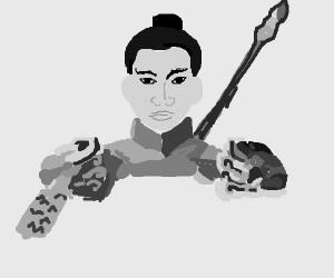 Little Chinese warrior warrior