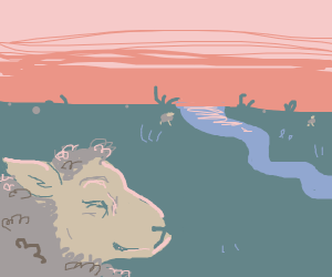Sheep thinks about childhood