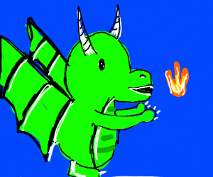 baby dragon learning to fire