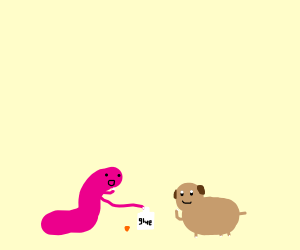 Worm does some not so good things with a dog