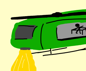Man in a helicopter (I think)