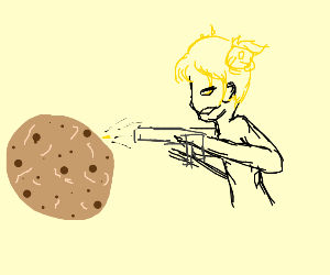 shooting a cookie