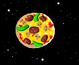 Literal pizza planet