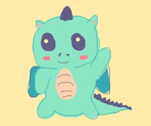 Cute friendly dragon