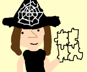 Witch solving the puzzle