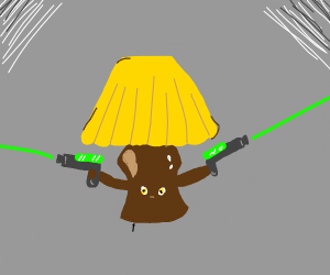 Lamp has laser guns! Look out!