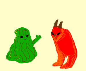 Swamp thing agrees with demon