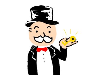 monopoly guy with a key