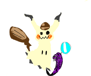 Mimikyu with a funky hat