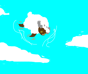 Wooloo has ascended (is floating)