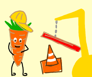 Carrot construction worker