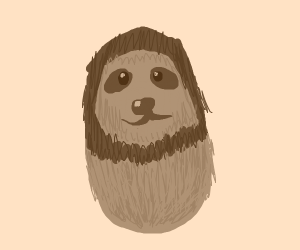 brown hairy sloth egg