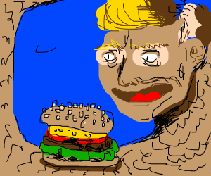 Snake wants borger, might be the president