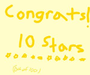 Congratulations, 10 stars!
