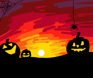 Halloween sunset
