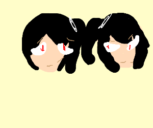 Edgy anime twins