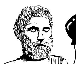 Aristotle with a balloon