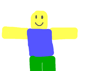 Roblox T-pose