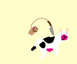 a derp hamster kills a derp cow