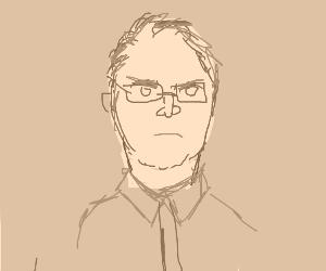 Grumpy grandpa with glasses