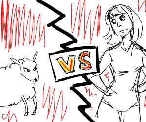 Woman VS Sheep (The Ultimate Battle)