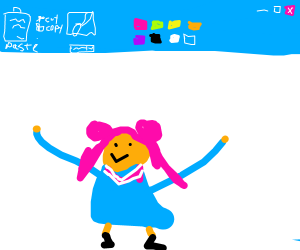 Drawing anime in ms paint