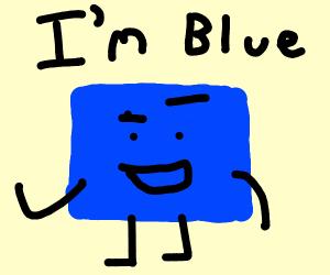 """Blue square sings """"I'm Blue"""" by Eiffel 69"""