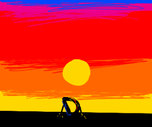 drawception D is happy to watch the sunset