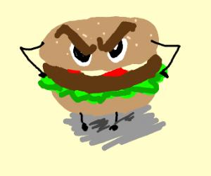 Angry hamburger