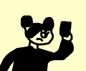 Goth Minnie Mouse