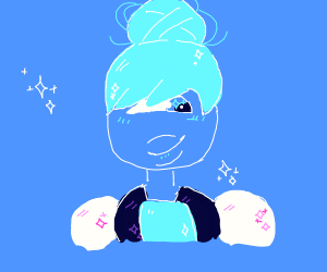 Sapphire but her hair's up