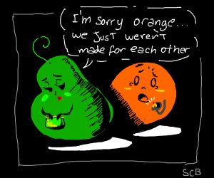 Pear rejects Orange