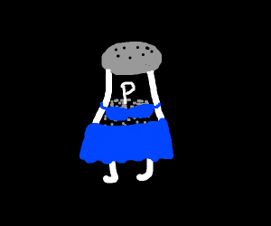 smexy pepper in skirt and bra