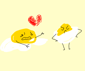 egg yolk cries because devil doesnt love back