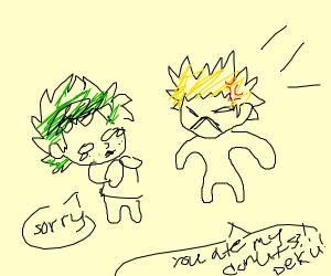 man angry at child