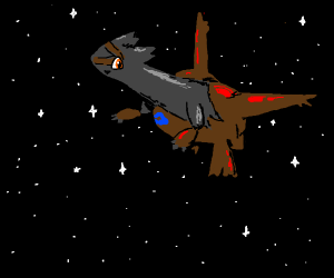 Latias (pokemon) in the night sky