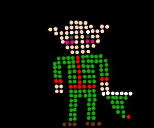 A bald elf