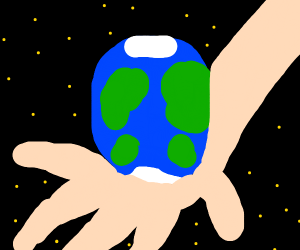 got the world in the palm of my hand
