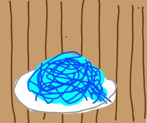Blue spaghetti