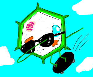 A sick plant cell