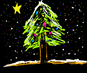 Christmas tree w/ North star