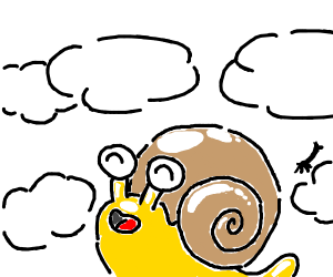 Snail enjoying Heaven
