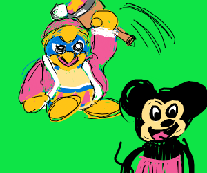 King Dedede plans to murder mickey mouse