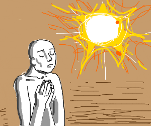 White Man Praying to the Sun